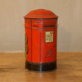 Vintage Tin Ornamental Postbox